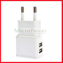 Dual USB Ports Travel Adapter for Samsung Mobile Phone and Tablet