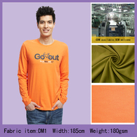 21s 100% cotton single jersey fabric for T-shirt and underwear
