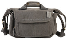 High Quality Camera Canvas shoulder Bag with grey and Kakki color with water resistant