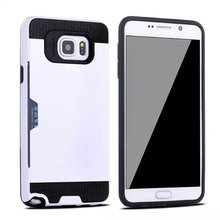 Plastic brush card case for Samsung S6 edge protect cover;hard soft tpu case for galaxy S6 edge N9250 mobile cover