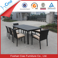 Royal restaurant dining tables and chairs fiber furniture dinner set
