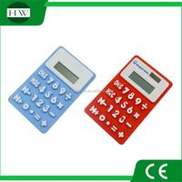 silicone calculator with 8 digit silicone folded calculator