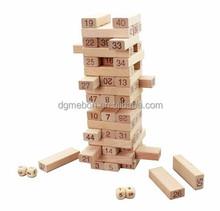 High quality Wooden toy educational preschool intelligence toy block math game digital building block 51pcs