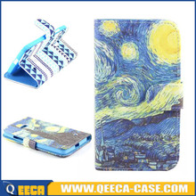 Fancy design wallet leather flip cover case for nokia lumia 640