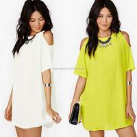 New Fashion Women's Tops Short Sleeve chiffon lady blouse