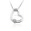 ouxi latest 2015 Swarovski elements Austria crystal wholesale heart pendant jewerly necklace 10341