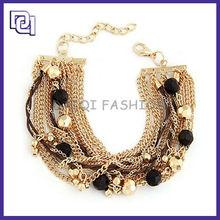 DQ New Design Energy Bracelet, Delicate Metal Slap Bracelet With Beads Ornament,Wholesale Metal Cuff Bracelet