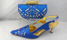 2013 nueva moda italiana de zapatos a juego y el set bolso para damas