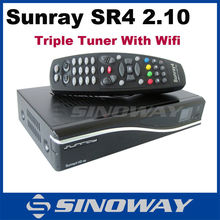 Hd receptor decodificador para italia Sunray4 sr4 800hd se wifi triple tuner receptor mejor caja de la tv