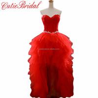 Real image Bridal Dresses Front Short Back Long Bridal Gown Hi-lo Bridal Wedding Dress