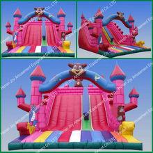 0.55mm pvc tarpaulin inflatable slip and slide/offer inflatable slides/inflatable water slide parts