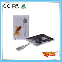 High quality bulk 2gb plastic card shape usb flash