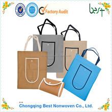 Eco-friendly non woven/non-woven fabric foldable shopping bag
