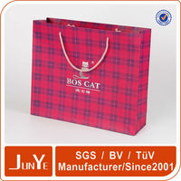Creative paper bag the cheapest stock gift packing chinese new year paper bag
