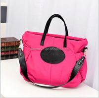 Mix Color Selling Winter Large Capacity Tote Bag with Long Shoulder Stripe