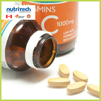 Vitamin C 1000mg Capsules Supplements Private Label, GMP-Certified