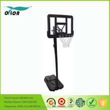 Wholesale movable portable from 2.30m to 3.05m basketball stand for outdoor training
