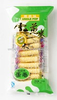 sweet coconut flavor 150g snow egg roll wafer