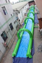 Hot selling gaint 1000 ft slip n slide inflatable slide the city for sale