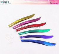 BTZ0047 Fashion Multi-colors Stainless Eyebrow Tweezers