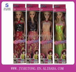 Wholesale Beatiful Plastic Hollow Body Dolls DIY Toy Little Girls Dolls Models