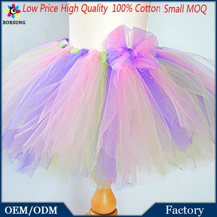 Latest Summer Girls Party Dresses For 7 Years Old Tulle Colorful Girls Party Tutu Dresses