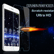 "Hot selling Smart Touch 9H 2.5D tempered glass film for iphone6 4.7"" smart screen protector Virtual key --with back and menu ke"