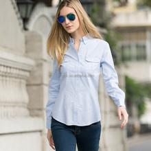 Veri hjc-8230a gude nova moda feminina ol puro algodão camisas manga longa