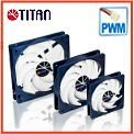 Cooler fan (DC 12v 14cm/12cm/9cm) PWM speed controller - TITAN Z-bearing provides long life-time operation