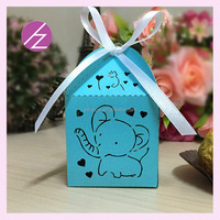 Best selling Good Quality candy box favor for wholesale Bulk cute packaging wedding favors elephant candy boxes TH-246