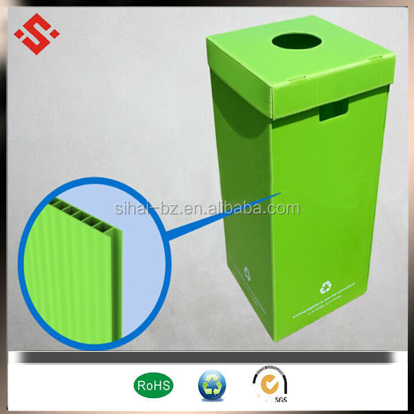 pp corrugated recycle bin