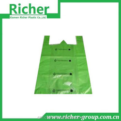 Accept Custom Order and HDPE/LDPE Material Custom Plastic T-shirt Bags Logo