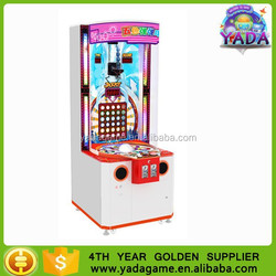 2015 Funny clorful balls game machine, balls falling lottery redemption game machine