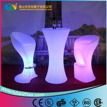 Colorful Hot Sale LED light up outdoor tables furniture modern bar counter old town white coffee