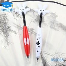 Cheap promotional recycled plastic pens finger shape plastic pen