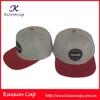 custom acrylic snapback hats oem high quality new design woven label grey snapback hats caps with red flat brim