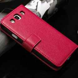 cross pattern leather case for samsung galaxy s3, smart cover case for samsung galaxy s3