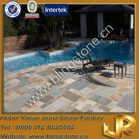 Natural Golden White Stone Floor Paving Slate Tile