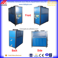 industrial air cooled small water chiller machine for composite plastic wood