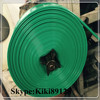 High pressure and cheap green pvc lay flat hose with grey cloth