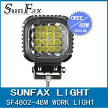 2015 hot sale 48w led work spot light, led driving light 12v for offroad 4x4 car, 4wd truck atv suv