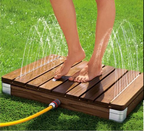 garden square base outdoor shower stand. Black Bedroom Furniture Sets. Home Design Ideas