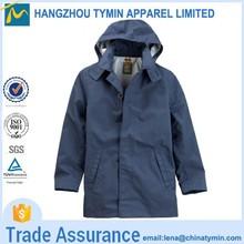 2015 hot sale long hooded waterproof men's coat