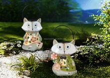 ceramic Led solar lights exterior for garden crafts