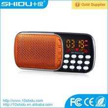 Portable stereo digital speaker with usb mini fm radio for elders outdoor use