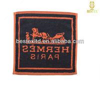 630GSM Jacquard logo Organic cotton Terry Custom towel
