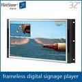 フリントストーン32インチフレームレスlcdデジタルhd画面モニターフルカラーの広告ledスクリーン