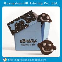 custom printed logo creative paper snack packaging box without glue