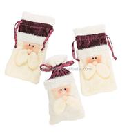 plush santa drawstring bag plush candy bag