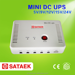 Hand power lithium battery mini ups output 5v 9v 12V 15v 24v dc power supply